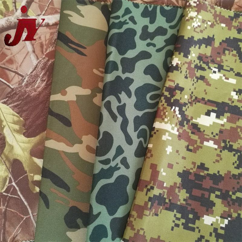 New products pvc coated tarpaulin waterproof digital denim camouflage oxford fabric for outdoor