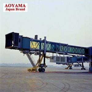 Commercial airplane passenger boarding bridge