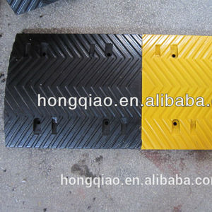 Washboard shape Rubber Speed Bumps Road Ramps Speed Humps
