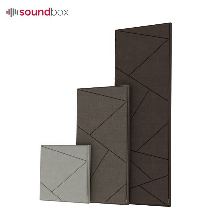 Good sound absorption effect wall fabric acoustic panel to studio