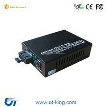 10/100/1000base-TX 4 RJ45 1 SC Simplex 20km Gigabit Media Converter Ethernet Fiber Switch