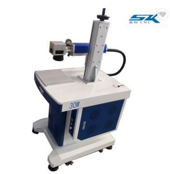 30W mini fiber laser marking machine for pen aluminum gold silver copper PVC ABS