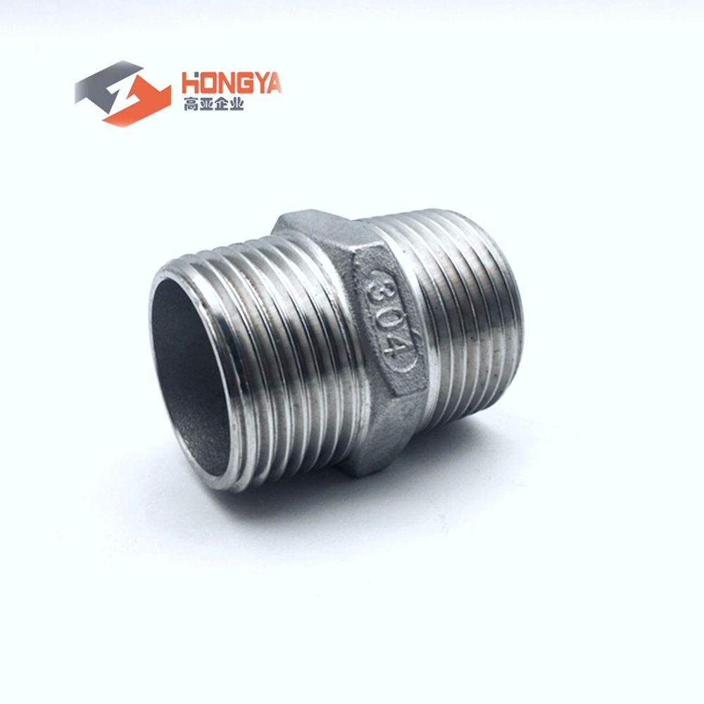 threaded stainless steel hexagon hex nipple IC fitting NPT BSP 304 316