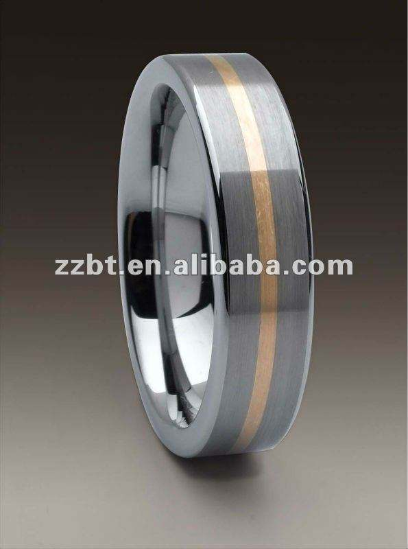 14kt rose gold inlayed tungsten rings