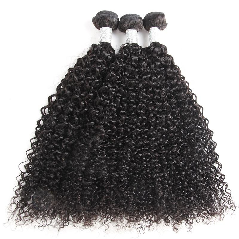 Top Quality Natural Color Noble Classic Curly Hair 10A 100% Brazilian Jerry Curl Human Hair Cuticle Aligned Hai Extension