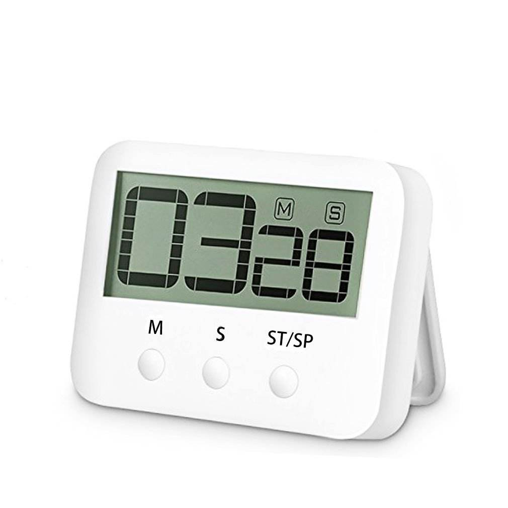 Grote Display Interval Timer Batterij aangedreven koelkast digitale milliseconde keuken sport gym countdown digitale timer