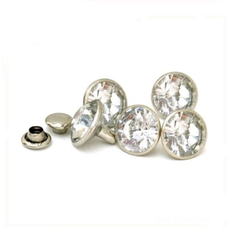 Metal Rivets China Factory Wholesale Metal Rhinestone Rivets Studs For Leather