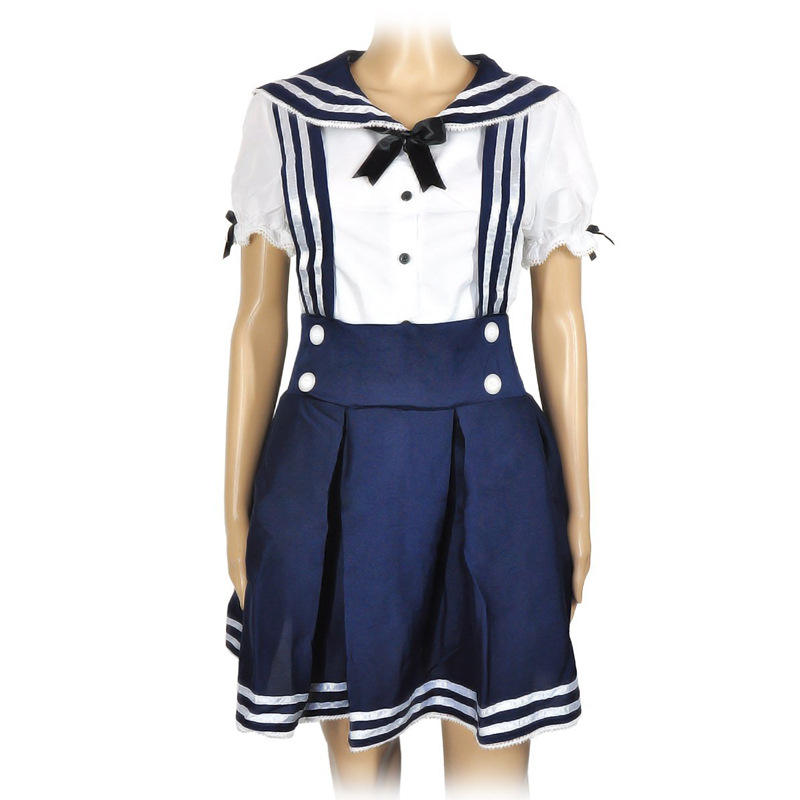 Dames Sailor Uniform Japenes <span class=keywords><strong>School</strong></span> Girl <span class=keywords><strong>Kostuum</strong></span>