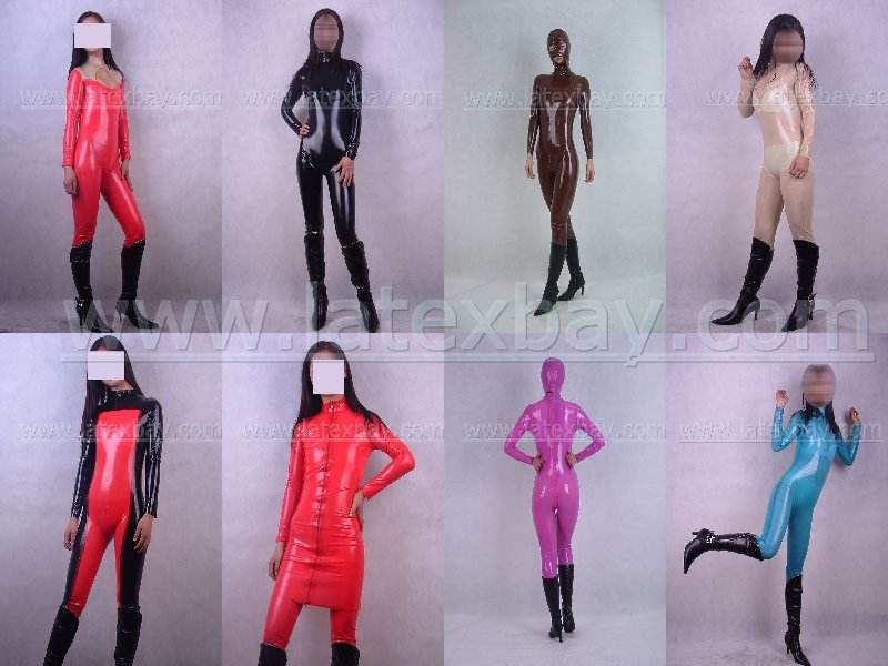 100/% Latex rubber .45mm Inflatable Catsuit suit bodysuit unitard zentai clothing