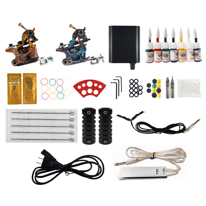 Ouliang Professionele Groothandel Tattoo Machine Kit 2 Stuks Machines