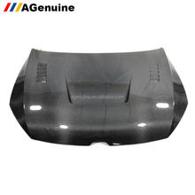 AGenuine 3K real carbon fiber car front bonnet engine vent hood for Volkswagen VW Golf 7 MK7 R GTI
