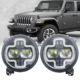 2019 NEW Car 90W With White Cross Shape DRL Led Headlight Fit For Wrangler JL 2018 2019