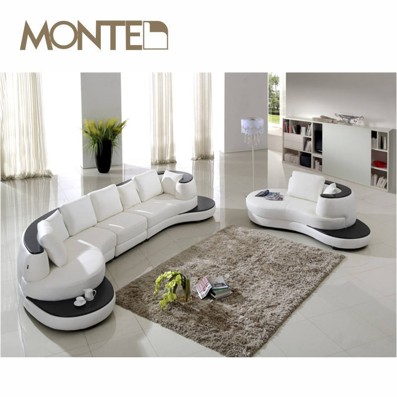 latest design modern leather corner sofa set