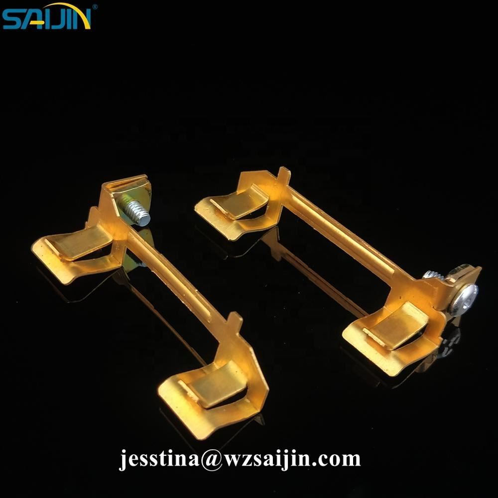 South America universal electrical switch parts contacts brass sheet metal parts