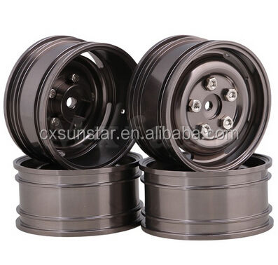 52mm Aluminum Alloy 4-Hole Wheel Rims with Screws for RC1:10 On-Road Racing Car