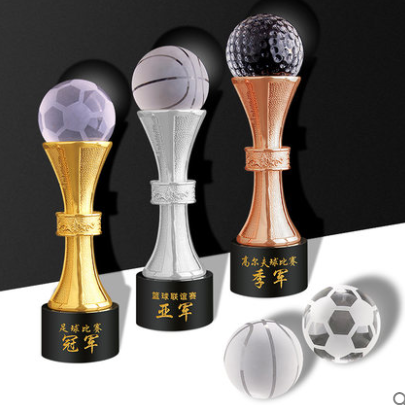 Champions league trofeo del metallo tazza di golf premi di cristallo sport medaglie trofei awards