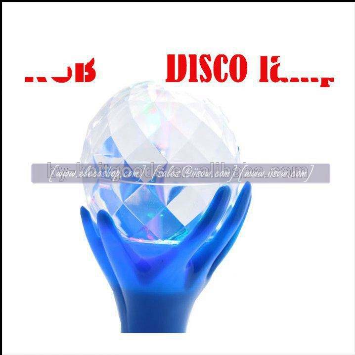 D-Z033 2016 new RGB led disco lamp 3x0.5w with colorful spin ball on hands