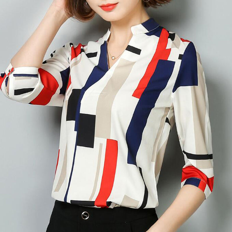 Women Blouses 2018 Fashion Summer Tops Shirts Female Clothing Short 3/4 Long Sleeve Blusas 3D Chiffon Women's Blouse