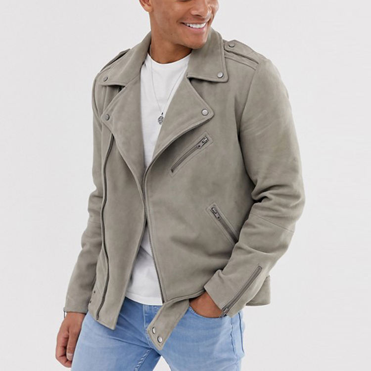 jackette for men zip fastening zipped cuffs softshell suede jacket men