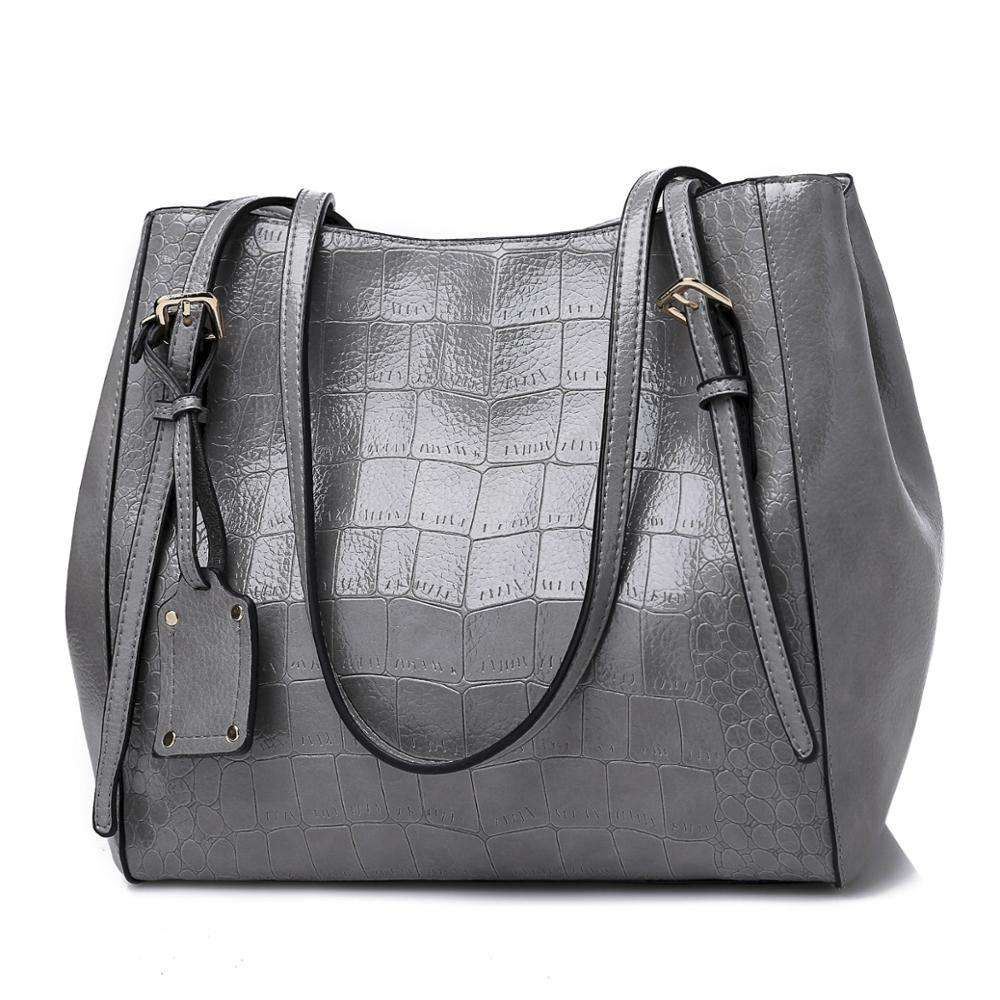 factory direct solid color female crocodile fashion handbags batch tote bag