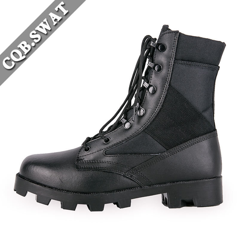 CQB.SWAT Combat Leather Boots Military Tactical For Delta