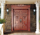 Villa luxury front door/ solid wood double main entry door