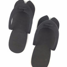 Black disposable pedicure flip flop eva slippers foam slippers