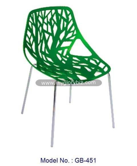 Modern Plastic Chairs Furniture, Green Fancy Plastic Chair, Green Home Chair Furniture