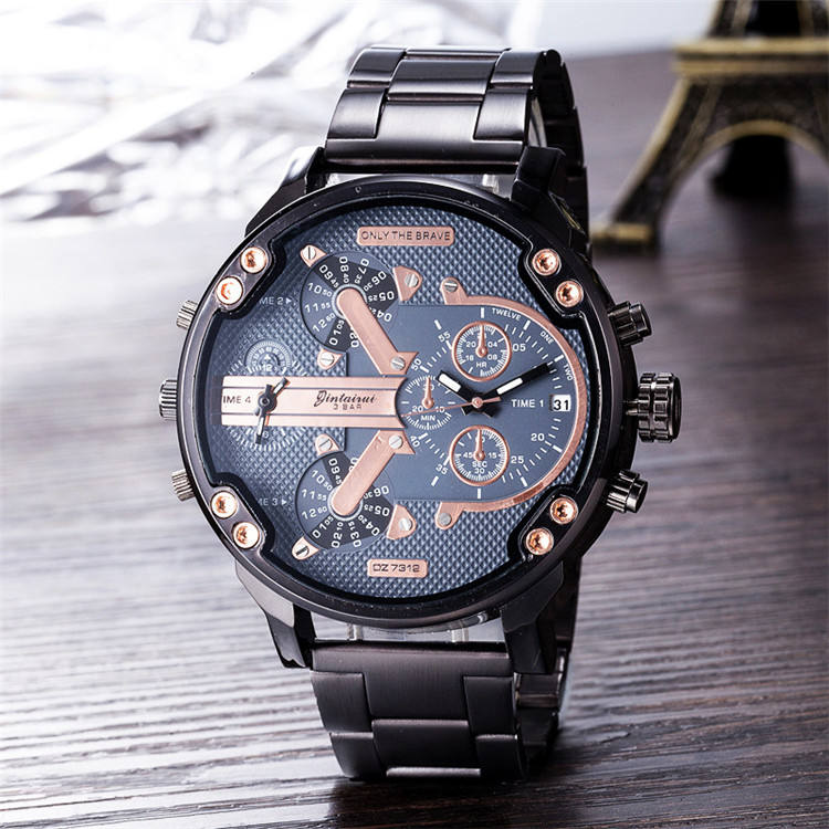 2019 Wholesales cool men watch DZ73 clock leather OEM luxury high quality bracelet wrist watches men creative fashion watch