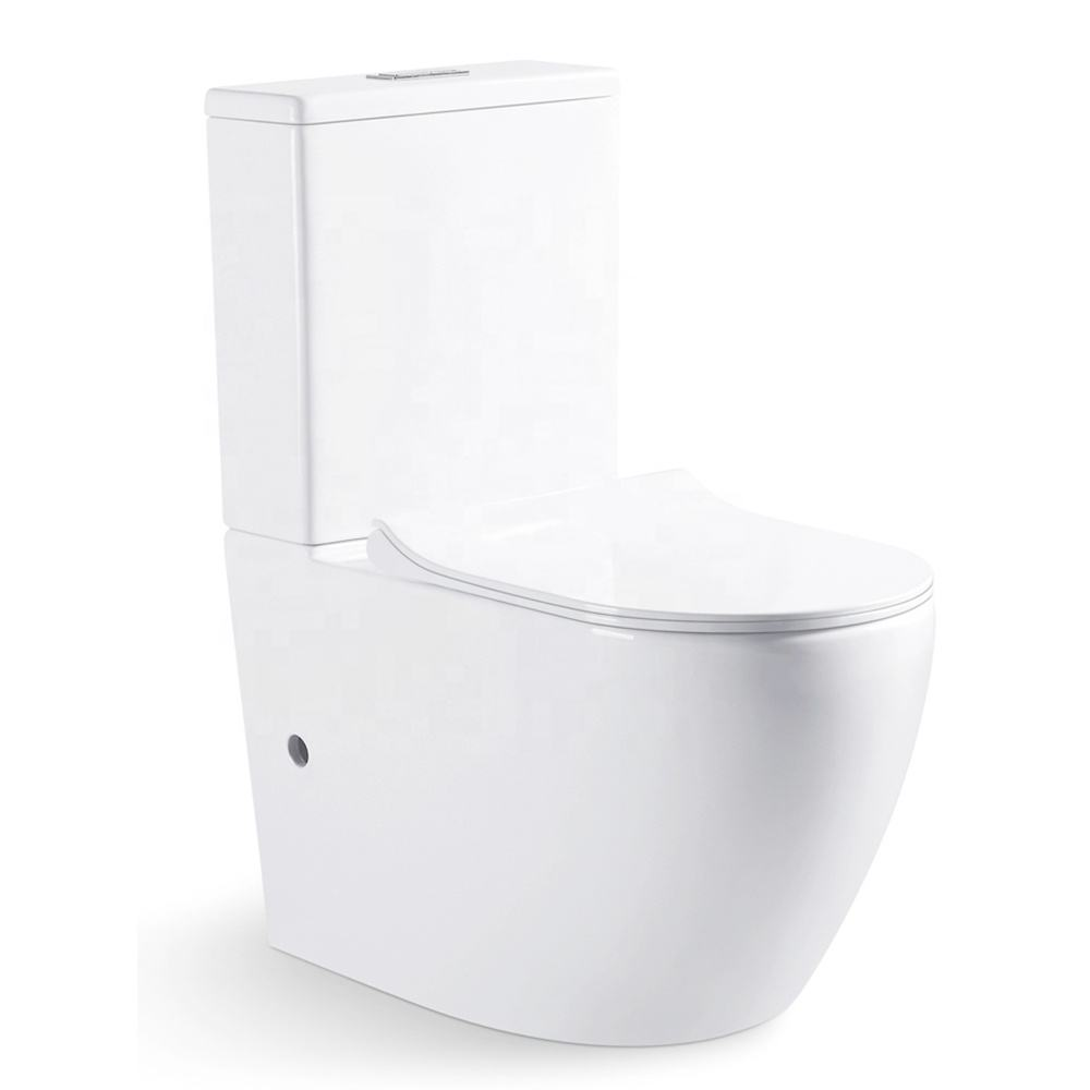 Water Closet Dual Flush Tornado Flushing Two Piece Western Toilet