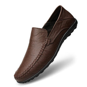Casual cow leather loafer shoe soft and Comfortable loafers leather shoes for men