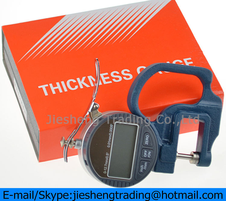 Original High Accuracy Percentile Thousandth Electronic Digital Thickness Gauge 0-10mm 0.01mm 0.001mm Dial Thickness Tester