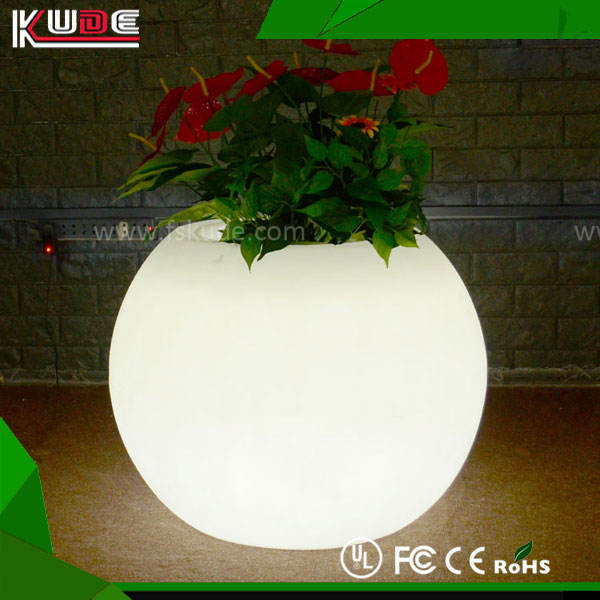 Light Up Outdoor flower pots led decoration illuminated flower pots
