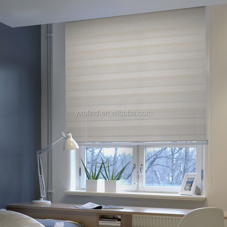 factory price horizontal double layer day and night roller blinds curtain for window decoration