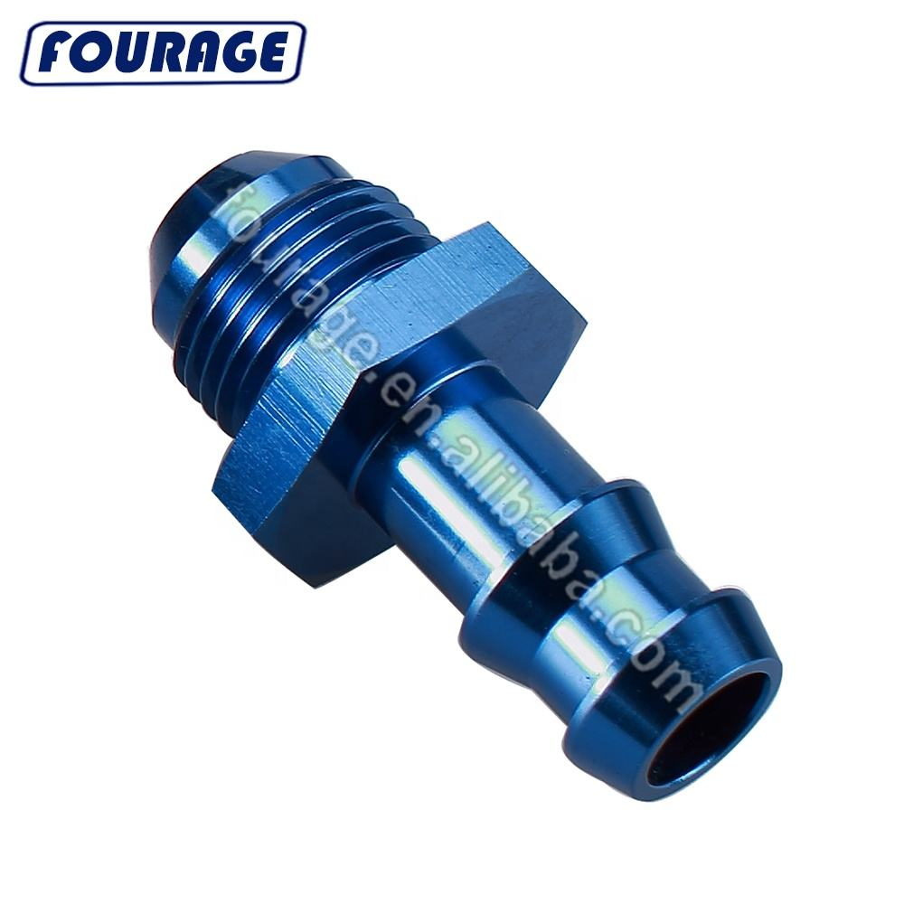 10AN AN10 Male Flare To 1//2 NPT Male Fitting Adaptor Connector Performance Black Aluminum 45 Degree Elbow