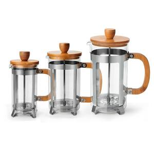 Hot Sale Free Sample Portable Wood Coffee Maker Bamboo French Press