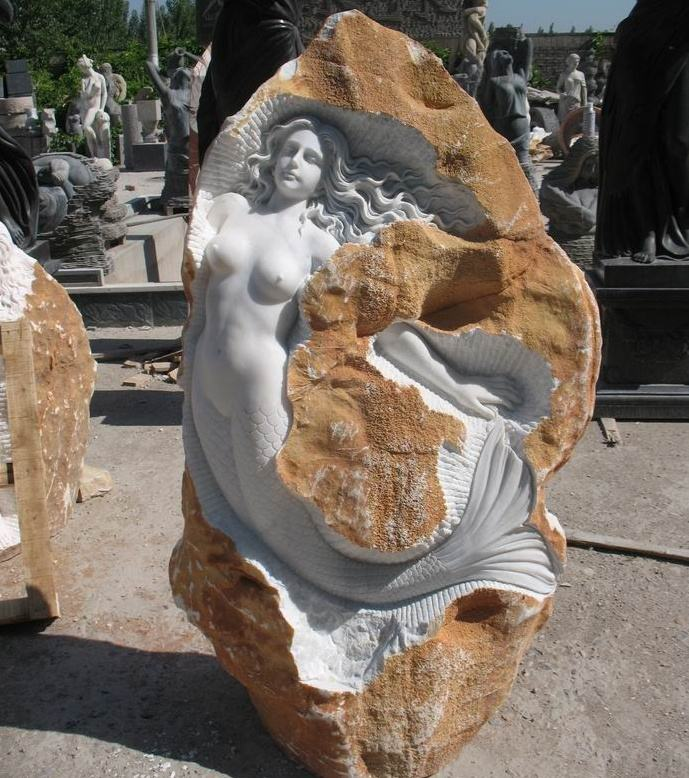 garden decoration white marble life size concrete molds for statues