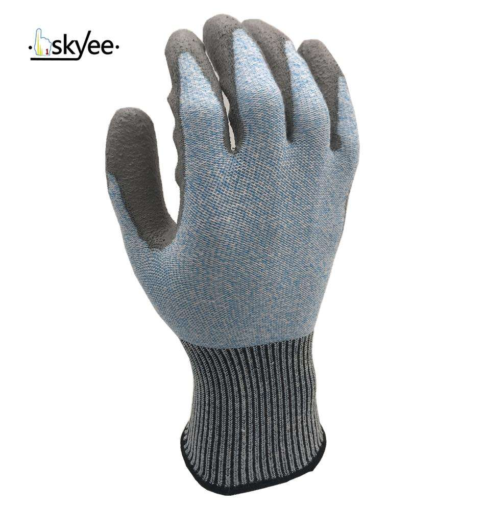 SKYEE Best selling cut-resistant liner with PU coated working gloves