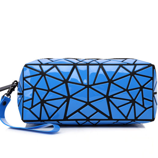 wholesale women cosmetic pouch geometric folding large hanging toiletry bag