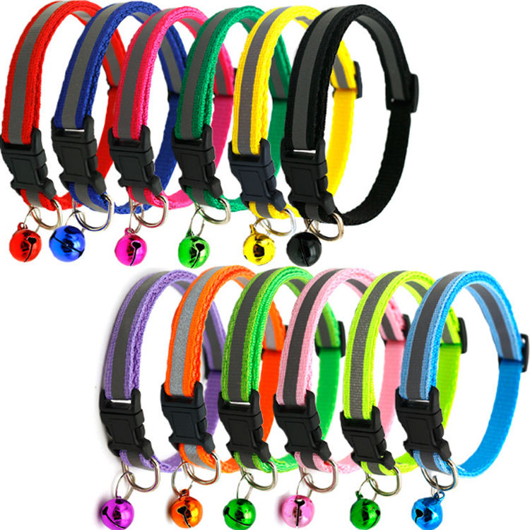 Amazon Hot Selling 2019 Newest Durable Multicolor Reflective Cat Collar