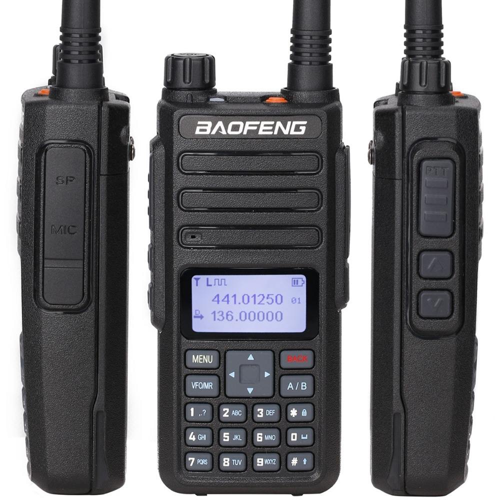 Baofeng DM-1801 PLUS Dual Band Dual Slot Waktu DMR Digital/Analoge 2Way Radio 136-174/400-470 MHz 1024 HAM Walkie Talkisupport