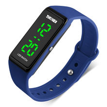 skmei silicone rubber strap sport bracelet digital LED watch waterproof 3 atm watch for boy and girls