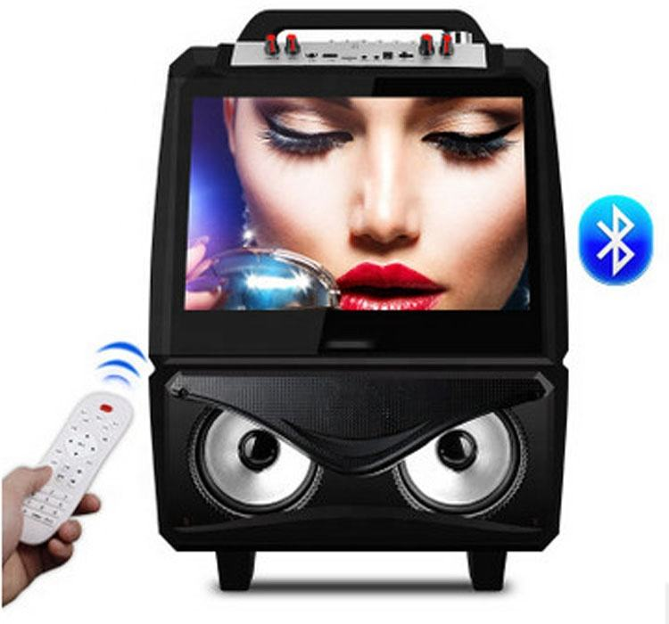 15 inch Video speaker Stage Dancing Audio trolley outdoor speaker with WIFI touch screen function