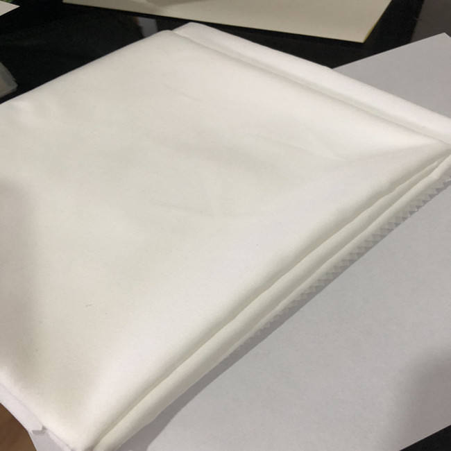 100% polyester microfiber brushed fabric white bed sheet fabric