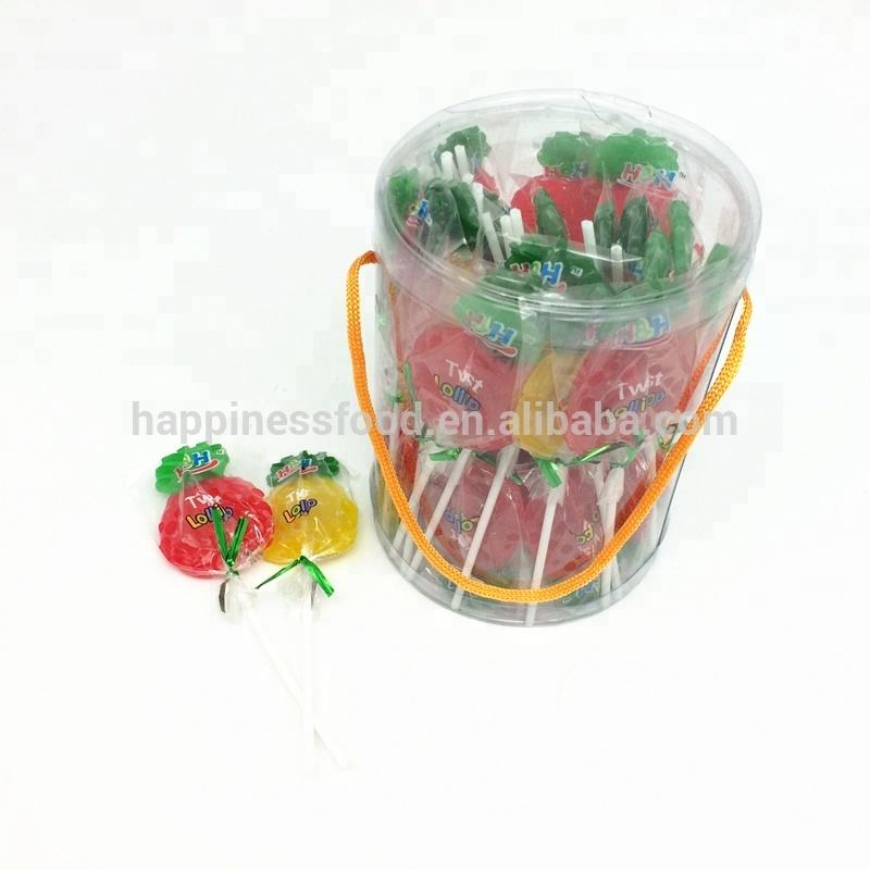 pineapple fruit shaped lollipop candy