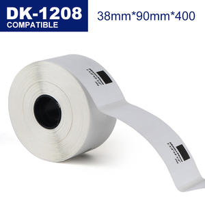 38mm*90mm Compatible thermal stickers shipping labels DK-11208 for QL thermal label printer
