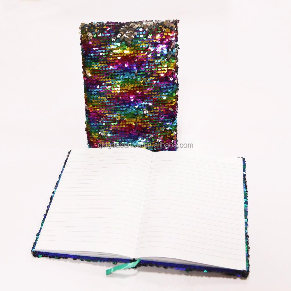 <span class=keywords><strong>Changement</strong></span> de couleur Paillettes Couverture Mini-Ordinateur Portable Journal pour Promotion
