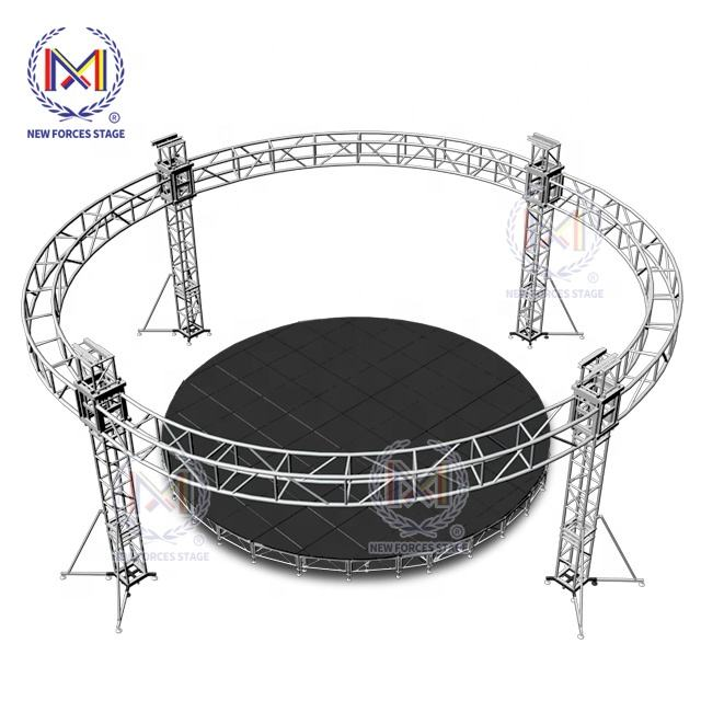 Outdoor Indoor Lightweight Aluminum Dj Round Truss, Stage Decoration Truss For Concert Stage Rotating Lighting Truss