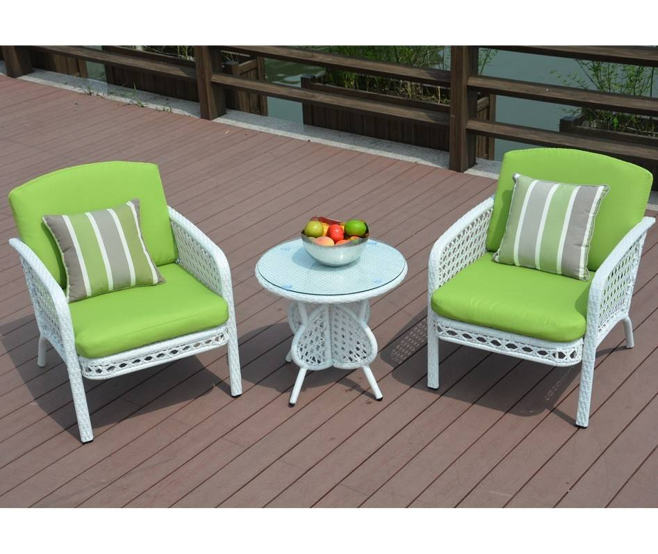 Alu Frame Chair with Cushion Outdoor Garden Sofa Wicker Furniture Table and Chair Patio Furniture