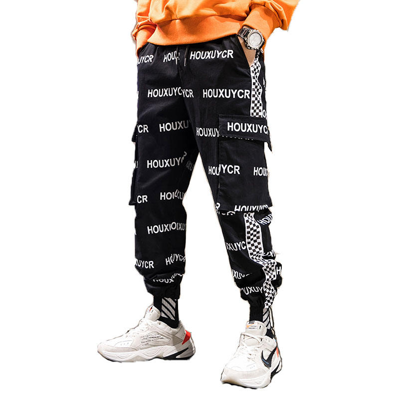 custom logo trousers pants designs for men hip-hop trousers new fashion streetwear cargo pants factory price